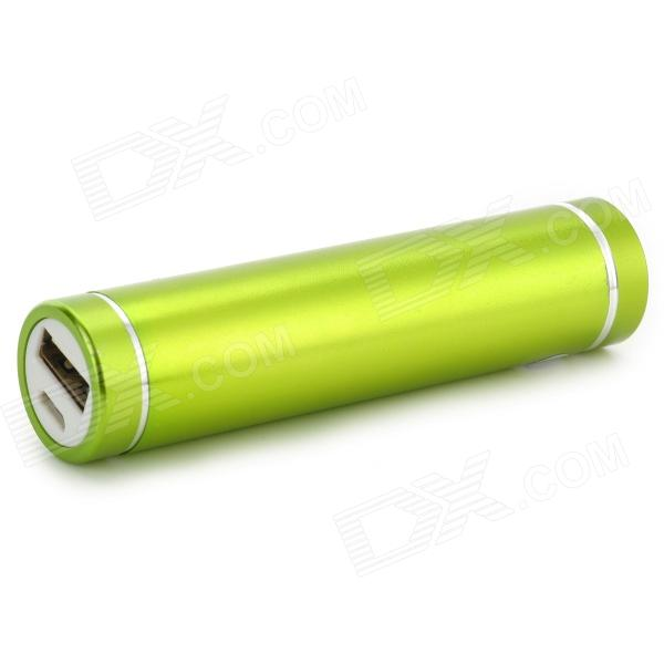 "LSON Cylinder Shaped ""2600mAh"" Power Bank for IPHONE / IPAD / IPOD / Samsung / HTC - Green"