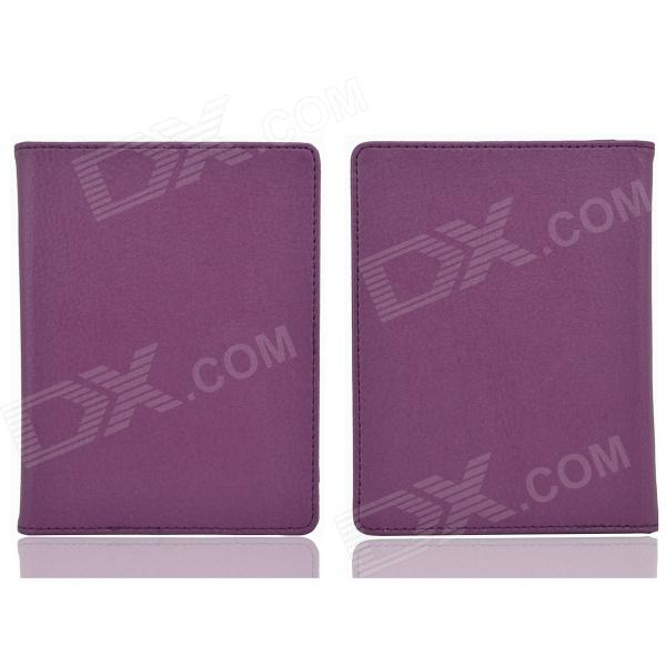 Protective PU Leather  Case  for / Auto Sleep KOBO NON HD - Purple