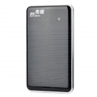 "Quickman Ultra-Slim Portable Solar ""10000mAh"" Power Bank w/ Dual-USB - Black"