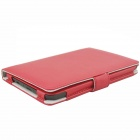 Hand Support Function Protective PU Leather Case for Pocketbook Touch 624 - Red