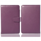 Hand Support Function Protective PU Leather Case for Pocketbook Touch 624 - Purple