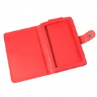 Protective PU Leather Case for Pocketbook Touch 624  - Red