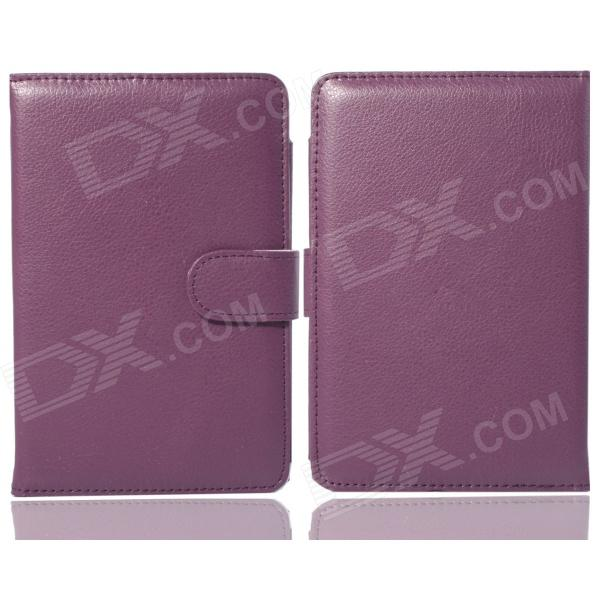 Protective PU Leather Case for Pocketbook Touch 624  - Purple high quality faux leather stand cover case for pocketbook touch 622 623 624 626 ebook ereader