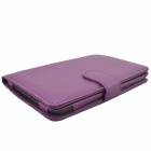 Protective PU Leather Case for Pocketbook Touch 624  - Purple