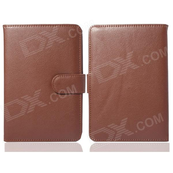 Protective PU Leather Case for Pocketbook Touch 624 - Brown