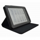 Protective PU Leather Case/With stand function for Pocketbook Touch 624 - Black