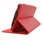 Protective PU Leather Case w/ Stand Function for Pocketbook Touch 624 - Red