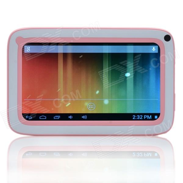 "6.7"" dual Core Android 4.0 lapsi Tablet PC w / CORTEX A8 1.2 Ghz, 512 Mt RAM, 4 GB ROM - vaaleanpunainen + valkoinen"
