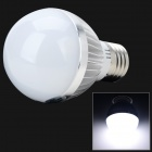 TOHDA TH-LEDJN-12N E27 6W 350lm 6500K 6-LED White Light Lamp Bulb - White + Silver (220V)