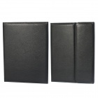 Wireless Bluetooth V3.0  Keyboard Protective PU Leather Case Cover Stand for Samsung P600 - Black