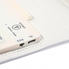 Wireless Bluetooth V3.0  Keyboard Protective PU Leather Case Cover Stand for Samsung P600 - White
