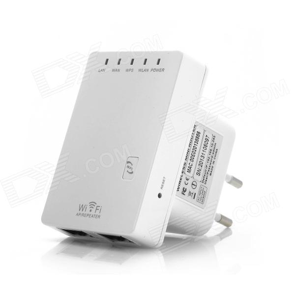 CL-WR02 300Mbps Wireless-N Mini Router Signal Amplifier Repeater - White