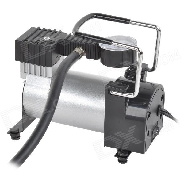 Car Fast Inflation Air Compressor - Black + Silver