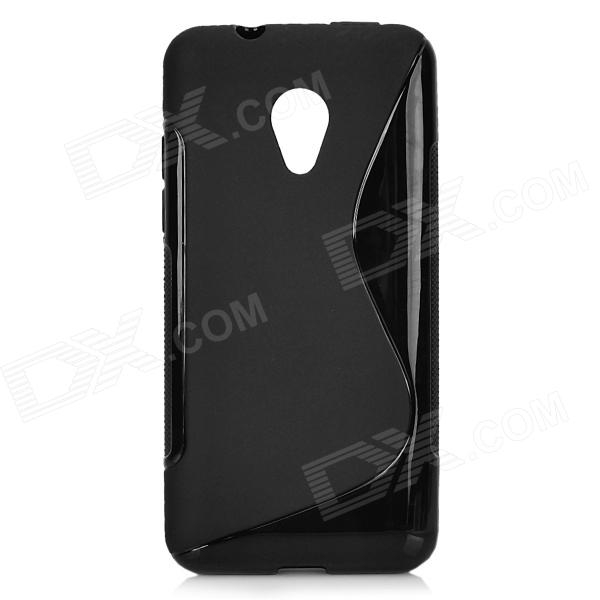 Anti-Slip S Style Protective TPU Back Case for HTC Desire 700 - Black htc desire s тачскрин
