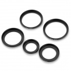 5-i-1-25 mm ~ 46mm til 30 ~ 49mm Filter Adapter ringer sett - svart