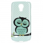 Sleepy Owl Style Protective Plastic Back Case for Samsung Galaxy S4 Mini i9190 - Green