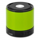 KUBEI 288B Mini Portable Bluetooth V3.0 MP3 Speaker w/ Microphone / Mini USB / TF - Green