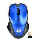 JiTe 3232 2.4GHz Wireless 1000/1600DPI Optical Mouse - Deep Blue + Black