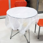 PE-10 Disposable Oil-proof Tablecloth for 10-person Table - White (10PCS)