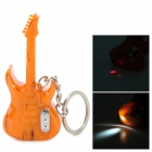 Creative Guitar Style 2-LED White / Red Flashlight Keychain - Orange (4 x LR41)