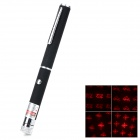8-Pattern 5mW 650nm Optical Pump Red Laser Pen - Black (2 x AAA)