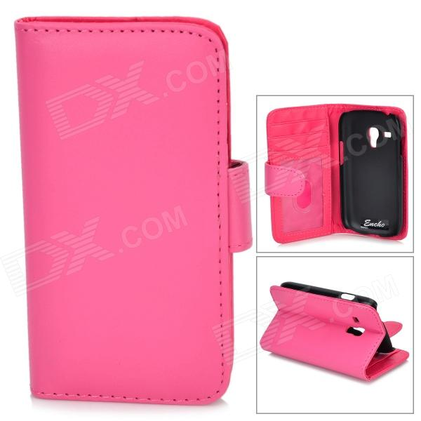 все цены на  Protective PU Leather Case for Samsung Galaxy S3 Mini i8190 - Deep Pink  онлайн