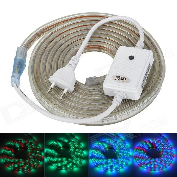 JRLED Waterproof 30W 900lm 180-3528 SMD LED RGB Light Strip - White (AC 220V / 3m)