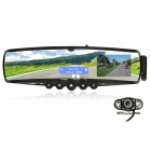 "ZhuoZhou LV-5608V2 3.5"" LCD Bluetooth V2.0 Rearview Mirror w/ Parking Camera - Black"