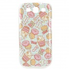Cakes & Biscuits Pattern Protective TPU Back Case for Samsung Galaxy S3 i9300 - Pink + Yellow + Blue