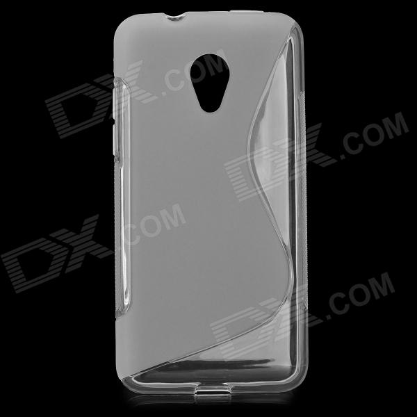 Anti-Slip S Style Protective TPU Back Case for HTC Desire 700 - White htc desire s тачскрин