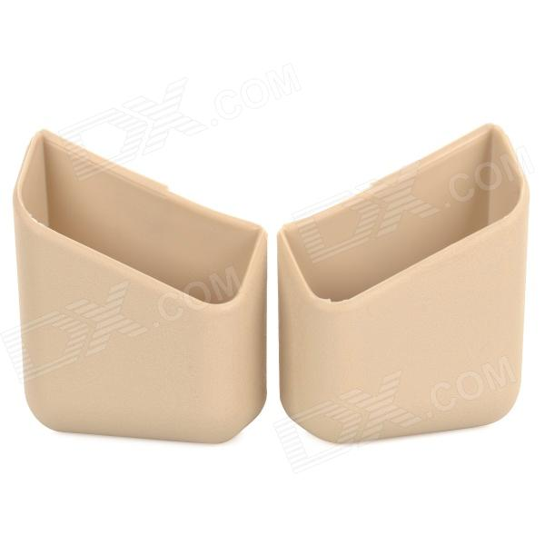 1887 Multifunctional Stickup Car Storage Case Holder / Pillar Pocket - Beige + Red (2 PCS)