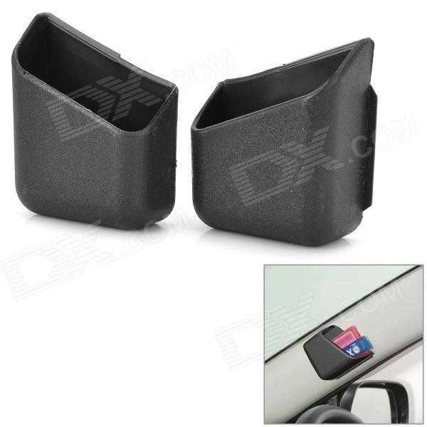 188 Multifunctional Stickup Car Storage Case Holder / Pillar Pocket - Black (2 PCS)