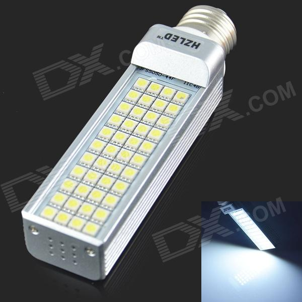 HZLED E27 9W 810lm 6000K 44-SMD 5050 LED White Light Bulb - White + Silver (AC85-265V) e27 9w 9 led 810 lumen 6000k white light bulb 85 265v ac