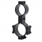 Aluminum Alloy Gun Mount Holder for 25mm Flashlight - Black