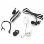 Ningt N5 Bluetooth v3.0 Casque tour d'oreille w / Microphone - Black + Silver
