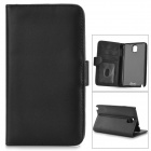 Protective PU Leather Case w/ Card Slot for Samsung Galaxy Note 3 /N9006/N9000/N9002 - Black