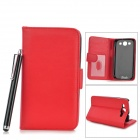 Protective PU Leather Case w/ Card Slot for Samsung Galaxy S3 i9300 - Black + Red