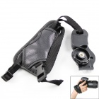 New Soft PU Leather Camera Hand Grip for SLR Camera / Digital Video Camcorder - Black Grey