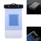 WP-02 Waterproof Bag Case w/ Strap / Armband for Samsung Galaxy Note 2 / Note 3 - Translucent Blue