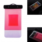 WP-02 Waterproof Bag Case w/ Strap / Armband for Samsung Galaxy Note 2 / Note 3 - Translucent Red