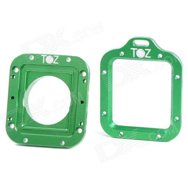 TOZ TZ45 Aluminum Alloy Dual Lens Adapter Ring for GoPro HD Hero 3 - Deep Green