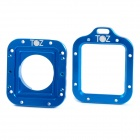 TOZ TZ45 Aluminum Alloy Dual Lens Adapter Rings for GoPro HD Hero 3 - Deep Blue