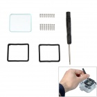 Fat Cat Professional High Transmittance Replacement Lens Kit for GoPro Hero3 - Black + Transparent