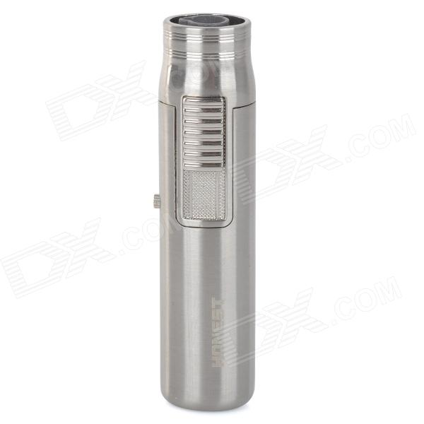Stylish Refillable Blue Frame Butane Lighter w/ Lock - SilverButane Jet Lighters<br>Form ColorSilverBrandN/AModel520MaterialMetalQuantity1 DX.PCM.Model.AttributeModel.UnitTypeGasFlame ColorBlueFlame Height2cmWindproofYesFuelButaneOther FeaturesStylish metal lighter, good hand feeling; Push the lock button left as pulling down the lighter switch, and the flame will be held; It can use in 5 minutes after refilling; Please make sure there is no fire as refillingPacking List1 x Lighter<br>