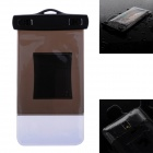 WP-02 Waterproof Bag Case w/ Strap / Armband for Samsung Galaxy Note 2 / Note 3 - Translucent Brown