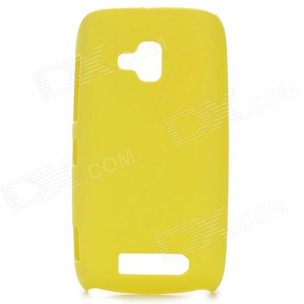 Protective Frosted Plastic Back Case for Nokia 610 - Yellow