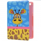 Cute Giraffe Pattern Fashion PU Protective Case for IPAD MINI 2 - Orange + Blue + Multicolored