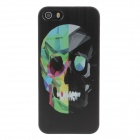 Stylish Colored Drawing Cool Skull Style Phone Case Cover for IPHONE 5 / 5S - Black + Green