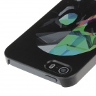 Stilige farget tegning kule Skull stil telefon coveret for IPHONE 5 / 5S - Black + grønn
