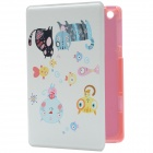 Reversed Cats Pattern PU Leather Protective Case w/ Stand for IPAD MINI 2 - Beige